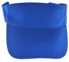 DECKY Cotton Polo Visor Adjustable-royal blue