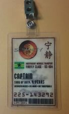 Serenity/Firefly ID Badge-Captain cosplay prop costume