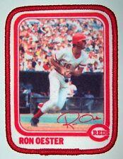 1982 RON OESTER CINCINNATI REDS MLB BASEBALL BORDEN PLAYER PATCH