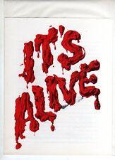 "ORIGINAL "" PRESS SHEET "" - JOHN RYAN - SHARON FARRELL - ITS ALIVE"