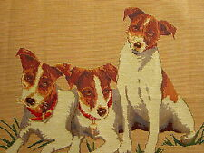 Jack Russell Terriers Belgian Tapestry Pillow Cover 3