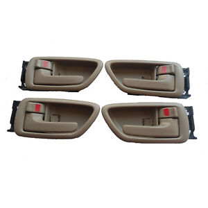 For 01-07 Toyota Sequoia Tundra Inside Driver Left Right Side Door Handle 4Pcs