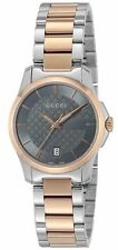 New GUCCI YA126527 GUCCI G-Timeless Grey Dial Ladies Watch Rose Gold MSRP $950