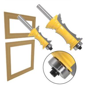 8mm Rahmen Formung Router Bit Carbon Stahl Miter Schaft Tür Zapfen Holz Cutter