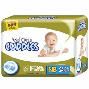 Velona Cuddles Baby Diapers Dry Super Pack Cotton Safe Protect Jumbo Pack Easy
