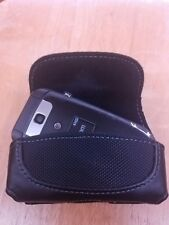Flip Phone Small Leather Holster/ Case with Belt Loop & Clip For LG B470 & B460