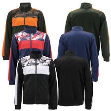 Men's Camo Listrado Zip Up Athletic Slim Fit corrida, cooper, academia Track Jacket