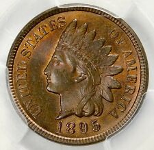 PCGS MS65 RB 1895 INDIAN HEAD CENT