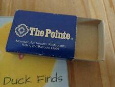 Matchbook Cover Box THE POINT Mountainside Resorts Restaurants Phoenix AZ Empty