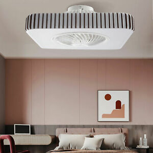 LED Ceiling Fan Light with Remote Adjustable Speeds and Light Color Living Room