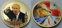BORIS JOHNSON Brexit Gold Coin Houses of Parliament London Westminster Europe