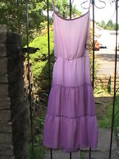 purple pink dip dye dress tie dye chiffon rare new tags knee length violet staps
