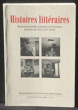 Revue Histoires littéraires n° 25 2006  Du Lérot NM