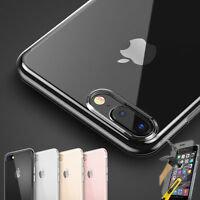 For New Apple iPhone 6 6s 7 8 SE 5 5S TPU Gel Case Cover Back Clear Transparent