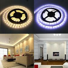 10M 5M 5050 SMD 300 Warm / Cool White Flexible 12V LED Strip Adapter Xmas Lights