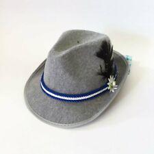 German Oktoberfest  Fedora Blue Trim Hat