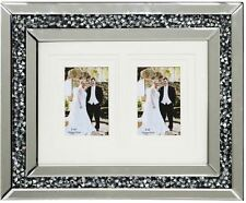 Diamond Glass Crystals silver 2 Photo Frame/ 6X4 OR 7X5 OR 8X6 SIZE PHOTO