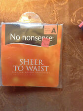 Wow! Vintage No Nonsense sheer to waist nude pantyhose size a