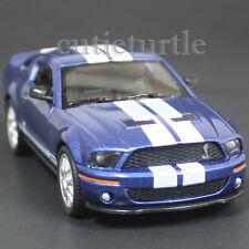 Kinsmart 2007 Ford Shelby Mustang GT 500 SVT 1:38 Blue with White Stripes