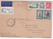 Australia First Flight Cover FFC 1938 Australia Papua PNG Stamps Port Moresby