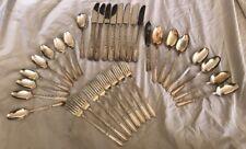 33 Piece Flatware Silverware Insico Stainless Viande Cotillion Ca.1932 Stratford