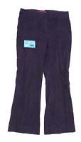 Womens Per Una Purple Cotton Trousers Size 10/L29