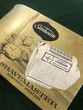 vintage Sunbeam shave master NS – 6 box instruction accessories only