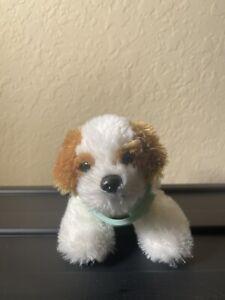 "Aurora Brown and White Stuffed Animal Plush Dog Nice Condition 6"" Smoke/Pet Free"