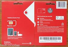 Vodafone Australia Australian Pre Pay as you go Standard/Micro/Nano Sim Simcard
