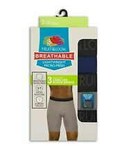 Fruit of the Loom Breathable Boxer Briefs Long Leg Lightweight Micro-Mesh