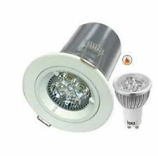 8 X LOXA Fire Rated DOWNLIGHTs with LED GU10 4.5w bulb ( white)