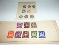 12 Antique Germany Stamps 1923 - 1925 AIR MAIL