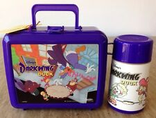 Vintage Disney Darkwing Duck Plastic Lunchbox Thermos & Tags Aladdin 1991 USA