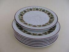 "Poole Pottery, 7"" petites assiettes, ""ARGOSY"" Set of 7."