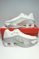 Nike Shox R4 White/Metallic Silver Running Sneakers 104265-131 Men's Sizes NEW!