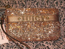 JUICY COUTURE NWT $55 women's purse sequin wristlet rose gold party disco