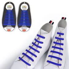 TOTOMO Blue No-Tie Elastic Shoelaces Silicone Tieless Shoe Laces for Skechers