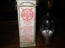 Marconi Deforest Moorhead Audion Brass Base and Tipped Radio Tube