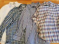 Peter Millar XXL LOT OF 4 Men's Long Sleeve Button Front dress shirts NICE 2XL