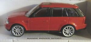 RASTAR RANGE ROVER SPORT RED 1:43 SCALE DIECAST MODEL CAR LAND ROVER TOY