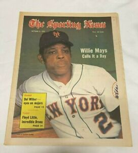 October 6, 1973 The Sporting News Newspaper---Mets Willie Mays   VG