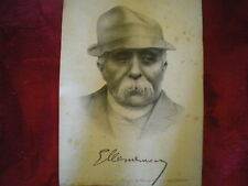 Grand Portrait de CLEMENCEAU - Signé - 1918  - Ière guerre Mondiale;
