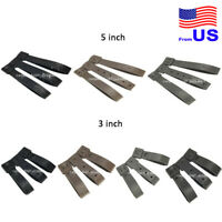 Durable Tactical Molle System 3/5 Inch Long Malice Clips Strap 3 Pack USA