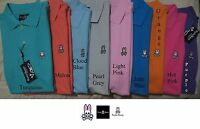 Psycho Bunny by Robert Godley men's basic Polo shirt in Small, Medium, Large NWT