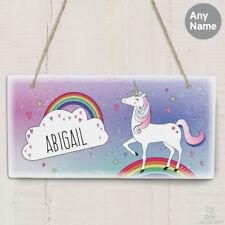 PERSONALISED Unicorn Sign. GIRLS Bedroom Door Sign / Plaque. Nursery. Playroom