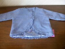 Lined Lace Trim Matinee Jacket, Age 6-9 Months with Cashmere & Angora, M&S, BNWT