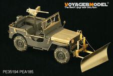 PEA185, Jeep Willys MB Quitanieves con Cadenas de Neumáticos (Tamiya/ITA), Voyagermodel 1/35