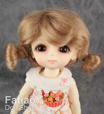 "New Dollfie Lati Yellow Pukifee 5-6"" Mohair Doll Wig - Latte"