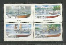 Canadá 1990 pequeñas embarcaciones de Canadá 2ND serie SG, 1377-1380 Um/M nh Lote 4803A