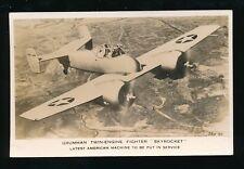 Military Aviation USA GRUMMAN Twin-engine Fighter SKYROCKET c1930s? RP PPC